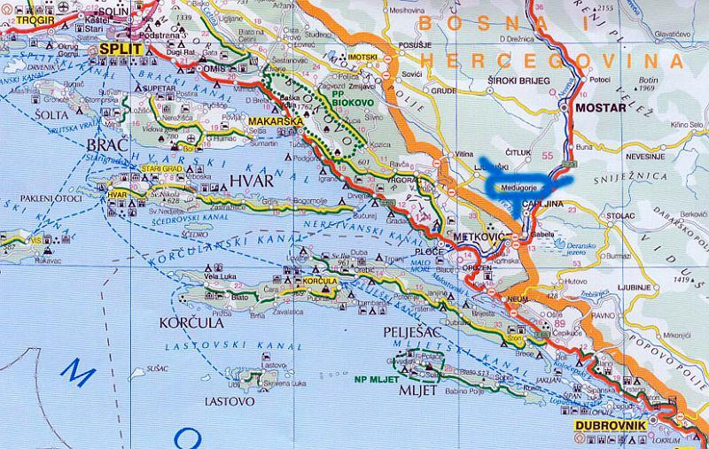 Cartina Geografica Croazia Medjugorje Wroc Awski